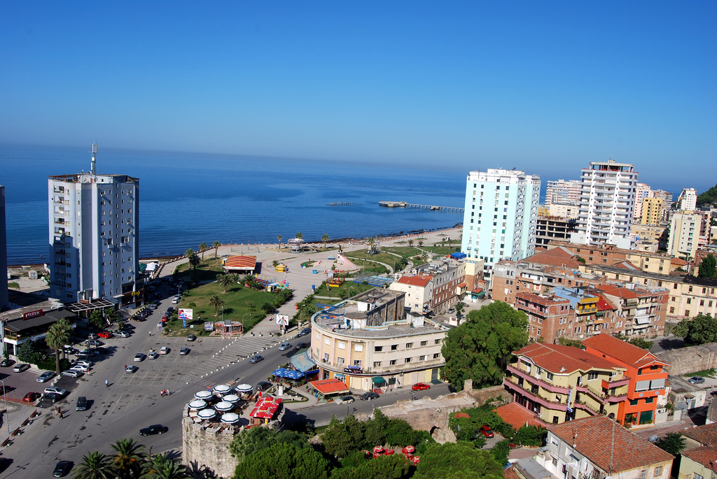 Vollga, Durres. Photo taken from the ''Fly'' cafe which is at the 15th floor of a flat.