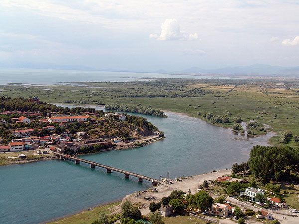 View of the lake and the river, Shkoder