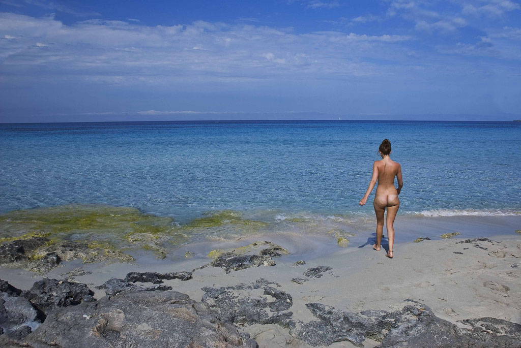 Nudist at Formentera