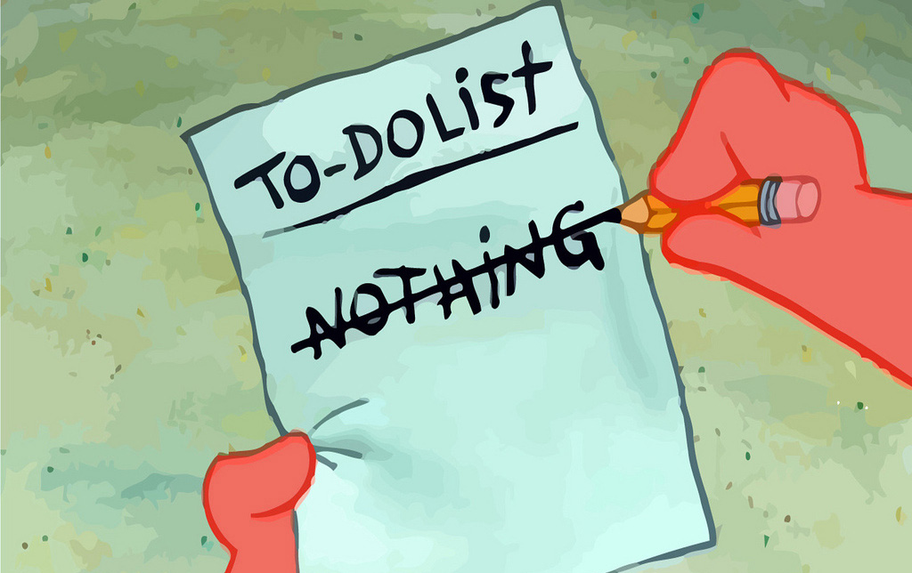 Patrick's to do list!
