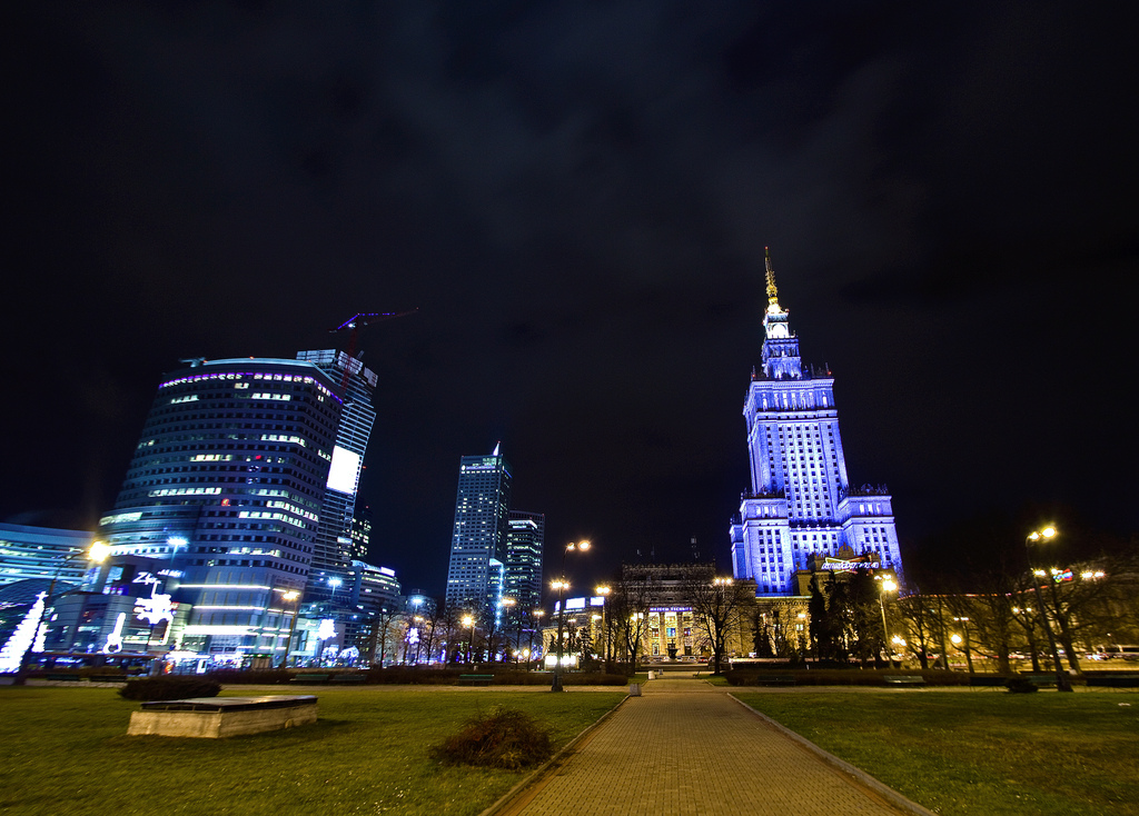 Palace of Culture and Science night