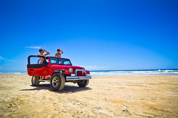 Jeep on the Beach