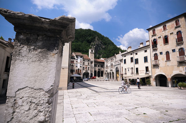 Serravalle, a small town in Italy
