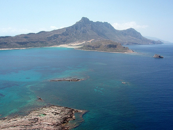 Balos, view from Gramvousa island's castle