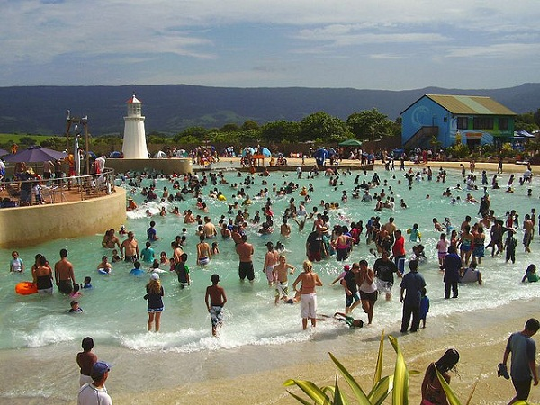 Jamberoo Action Park filled with people