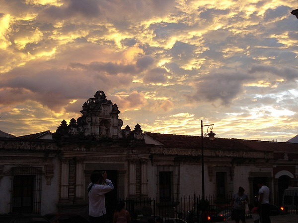 Antigua Guatemala Cathedral Sunset