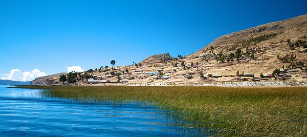 Lake Titicaca where water meets land