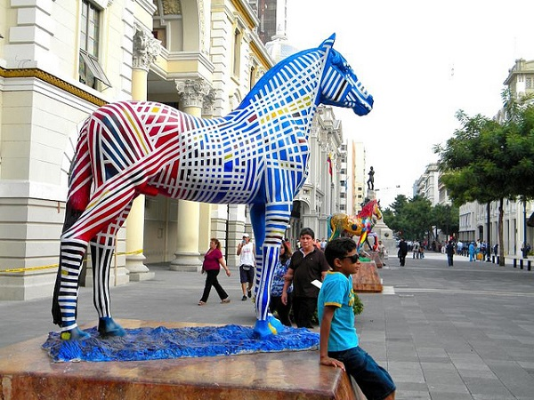 Guayaquil Painted Horse Statue