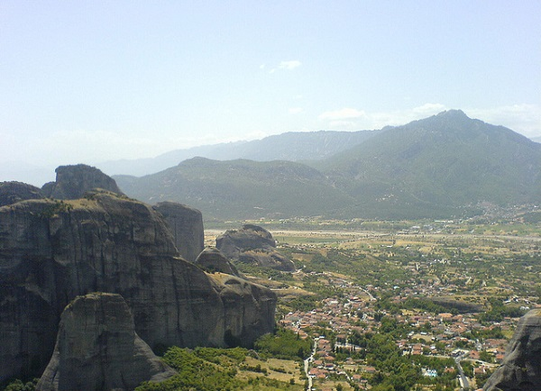 The view from Meteora