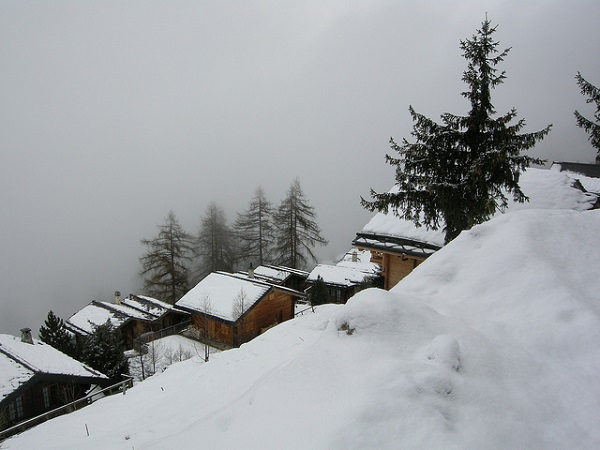 Nendaz in the Fog