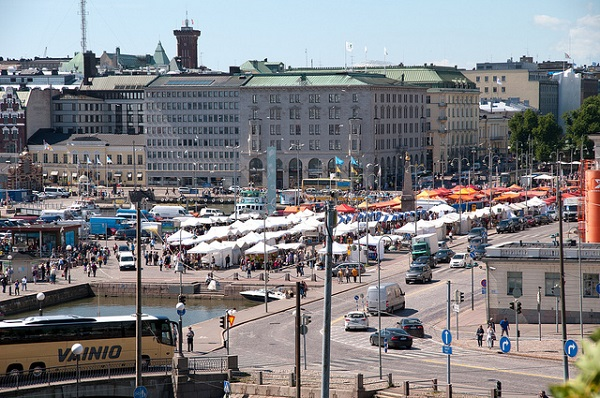 Helsinki visit to the main market square and city hall