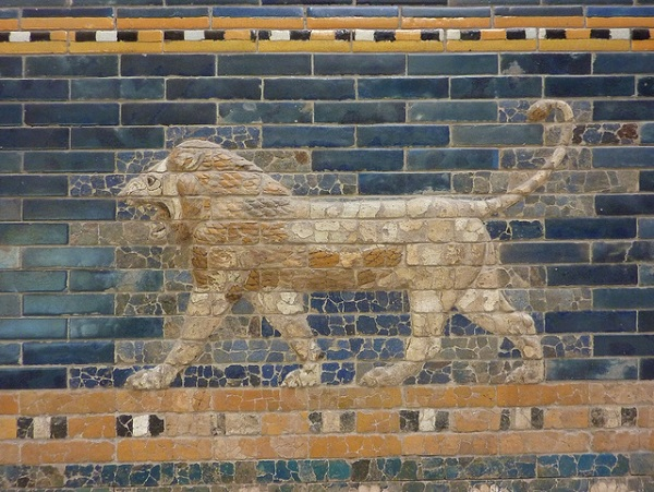 Pergamon Museum Lion exhibit
