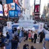 New York: an ice castle in Disney's Times Square
