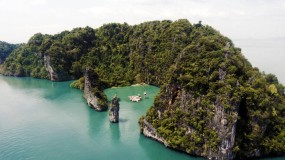 The floating cinema in Yao Noi, Thailand