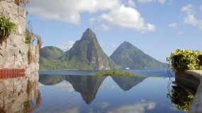 The Jade Mountain of Saint Lucia, the resort of private infinity pool