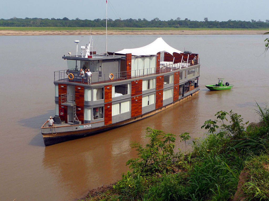 Amazon luxury cruise at Iquitos, Peru