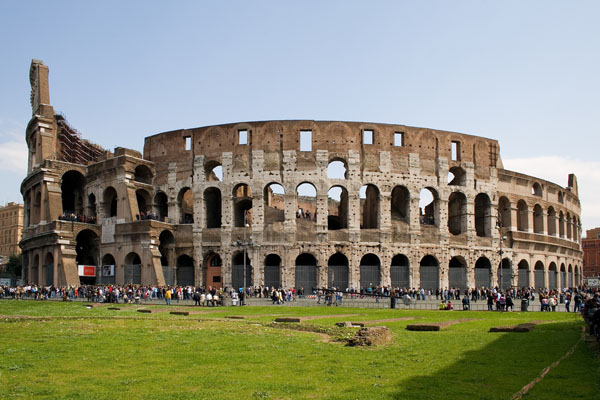 The Colosseum of Rome, Italy