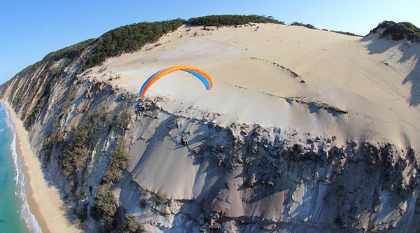 Flying over rainbow beach