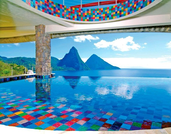 St. Lucia checkered pool