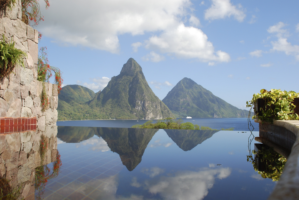 Mt Jade view from St Lucia