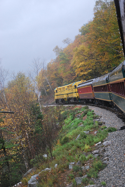 Conway Scenic Railroad in Crawford Notch