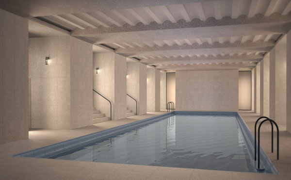 Cafe Royal Hotel interior pool