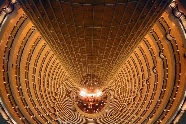 Jin Mao Tower Blinding way down