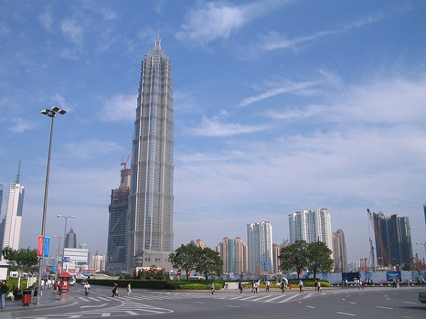 Jin Mao Tower standing out
