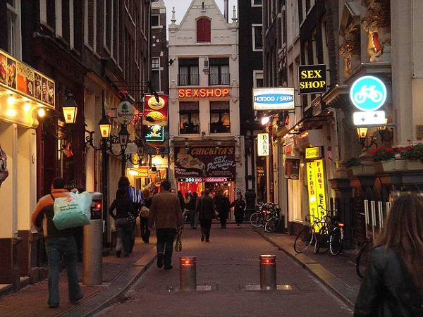 Amsterdam Red Light District substreet