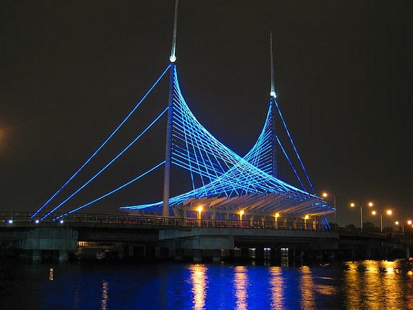 Guayaquil Bridge during the Night