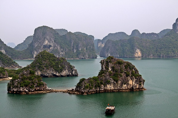 Halong Bay connected islands