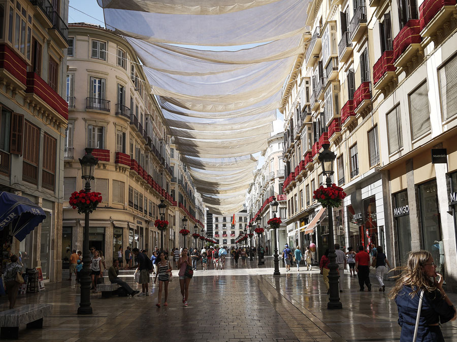 Shopping therapy in Malaga, Spain