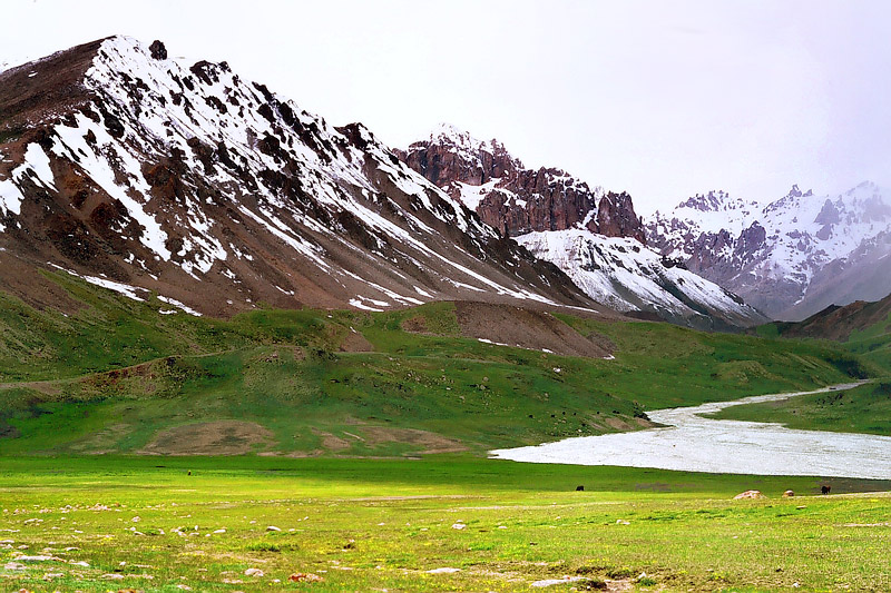 Pamir Mountains Scenery
