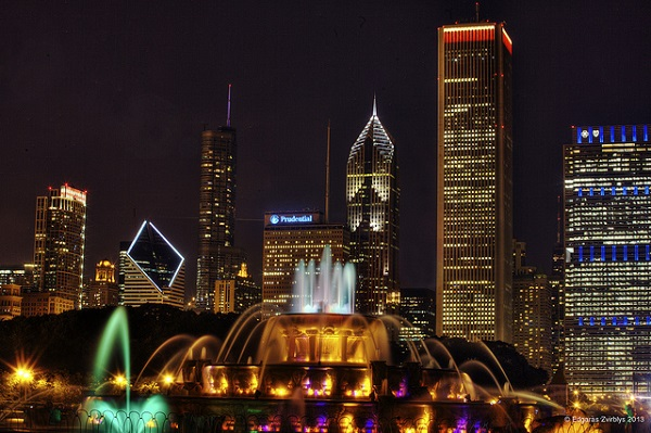 Grand Park, Chicago, fountain