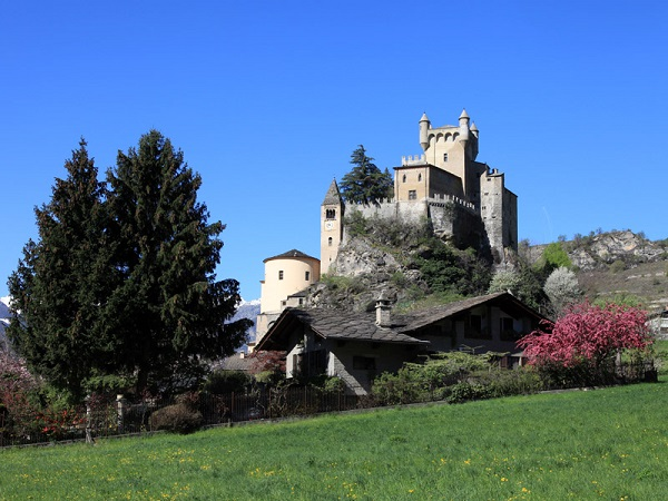 Saint-Pierre Castle in spring - Aosta Valley