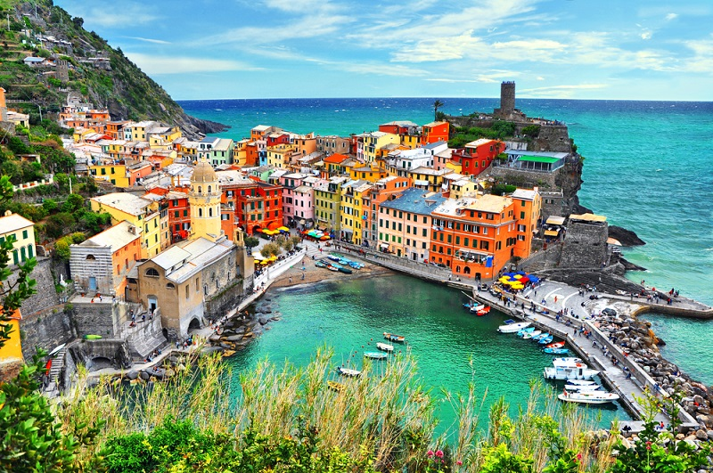Beautiful,View,Of,Vernazza,.is,One,Of,Five,Famous,Colorful